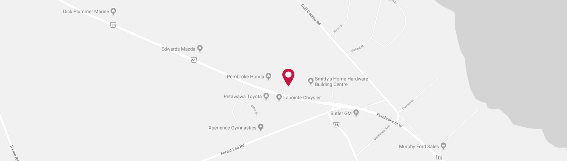 Pembroke Nissan map